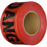 "Comfitwear PT-200 Red Danger Barricade Tape, 3"" X 1000'"