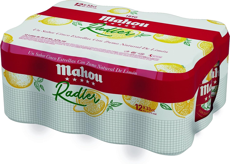 Mahou - 5 Estrellas Radler Cerveza Radler, 3.2% de Volumen de Alcohol - Pack de 12 x 33 cl: Amazon.es: Alimentación y bebidas