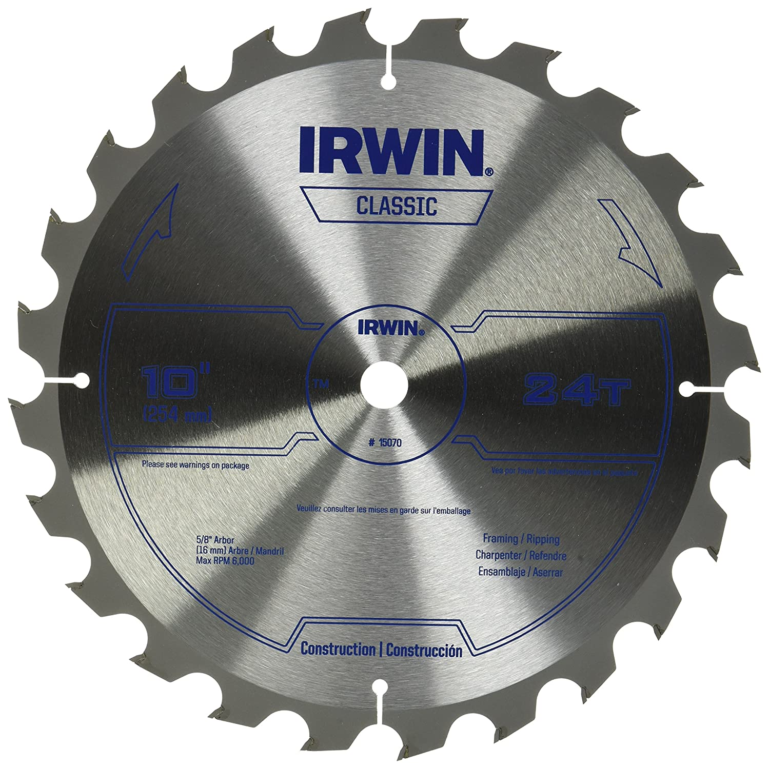 Irwin metal cutting circular saw blade 7 14 68t 4935560 metal irwin metal cutting circular saw blade 7 14 68t 4935560 metal working tools amazon greentooth Gallery