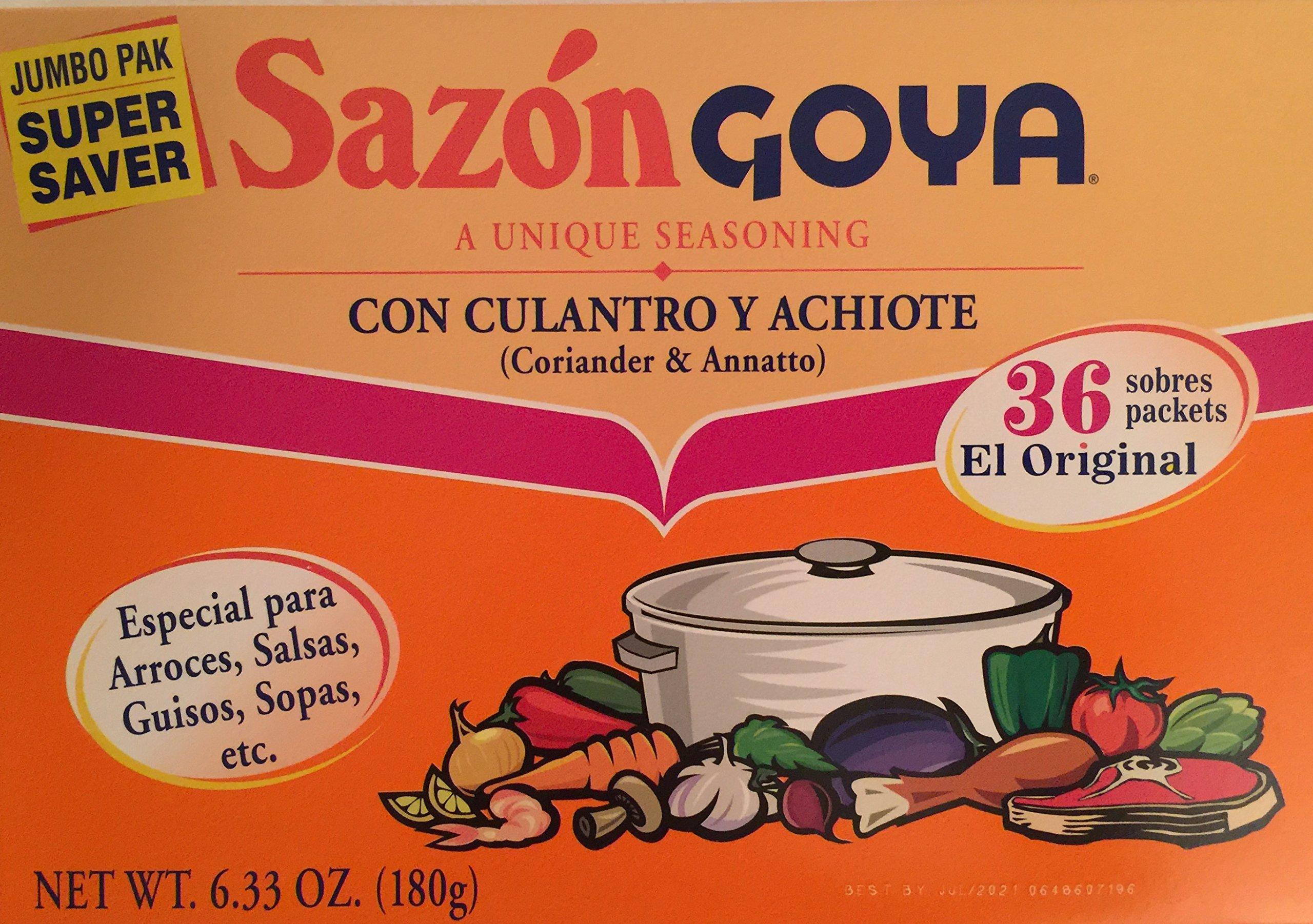 Goya Sazon Con Culantro Y Achiote 6.33oz Super Pack ( 2 pack )