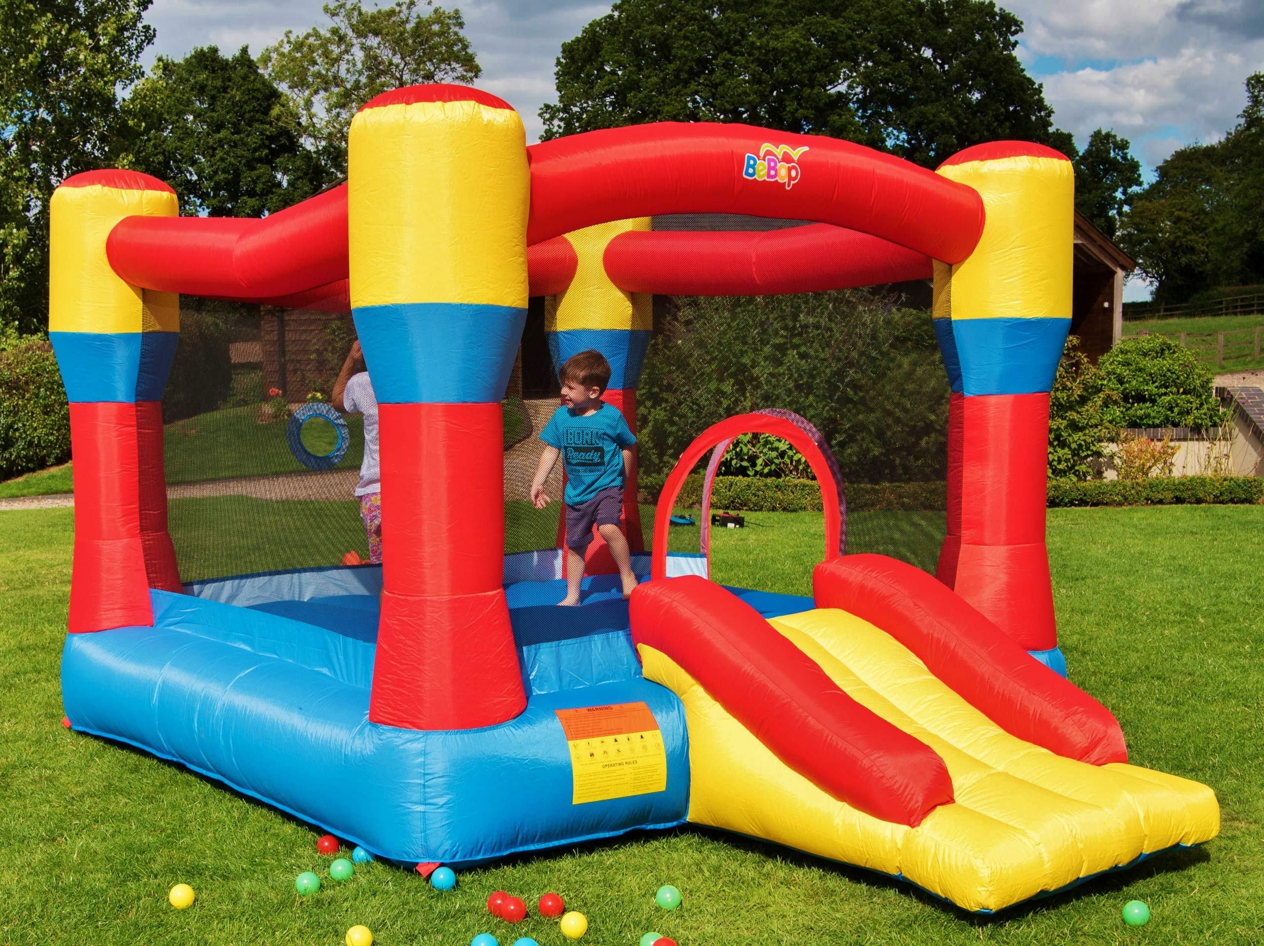 BeBoP 12ft Classic Inflatable Bouncy Castle and Slide- Buy Online in  Pakistan at desertcart.pk. ProductId : 51069965.