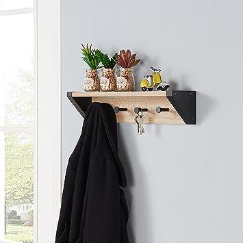 Danya B  Weathered Oak and Black Hanging Rack with Top Shelf. Amazon com  Danya B  Weathered Oak and Black Hanging Rack with Top