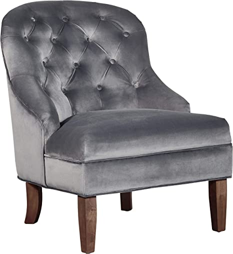 Adore Decor Vera Accent Chair, Blue Gray
