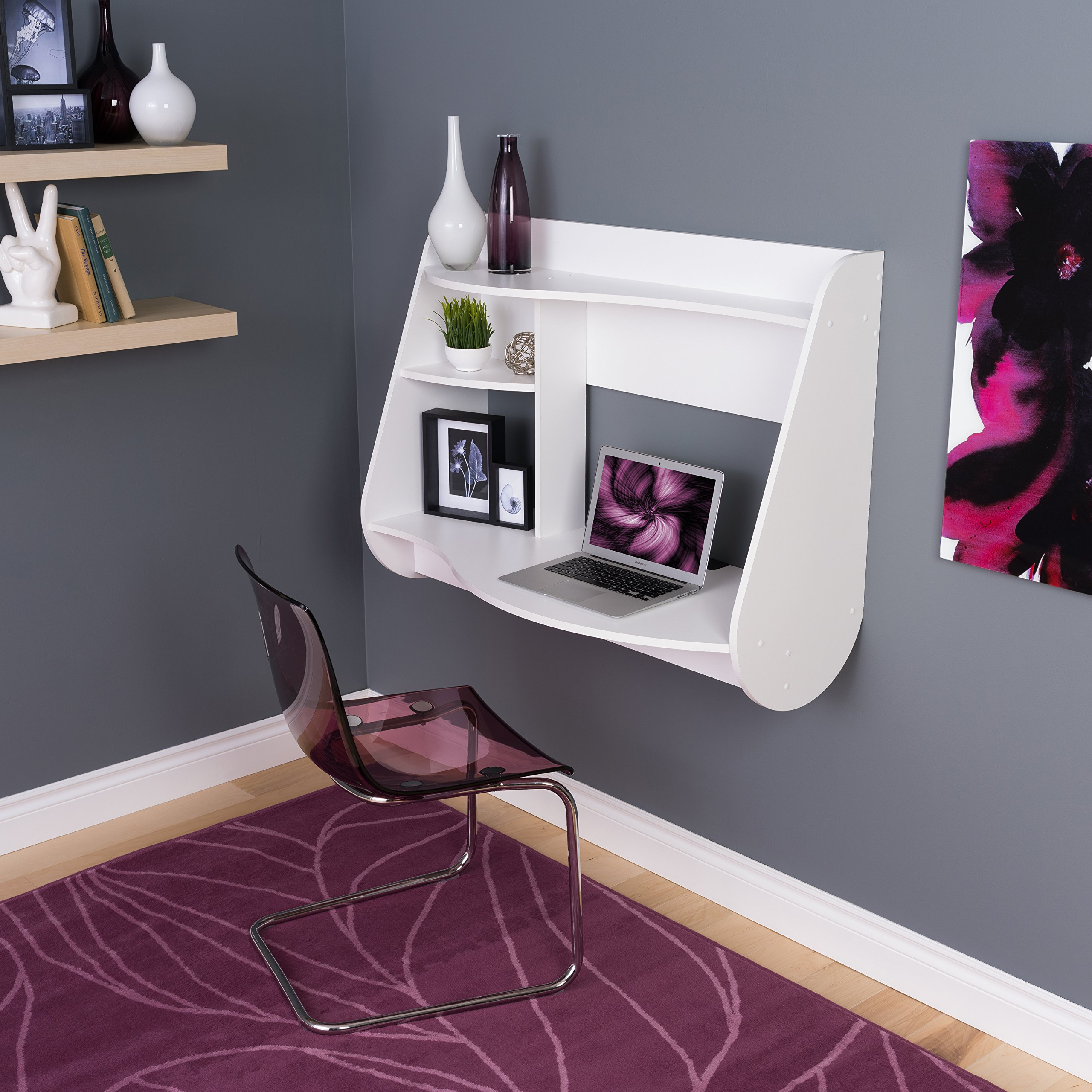 Prepac Kurv Floating Desk, White by Prepac