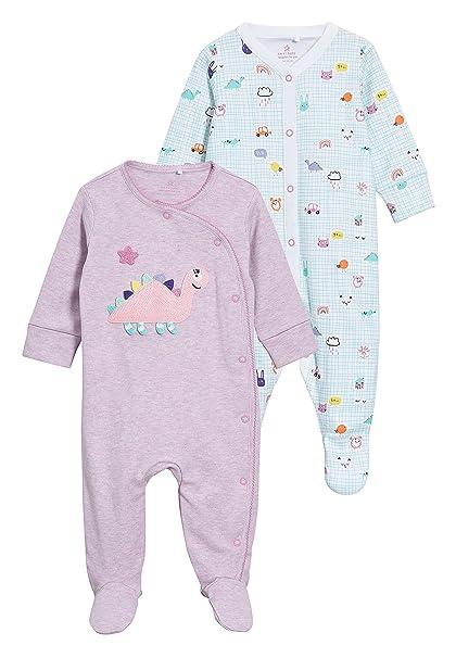 next Bebé-Niñas Pack De Dos Pijamas Tipo Pelele con Dinosaurios (0 Meses -