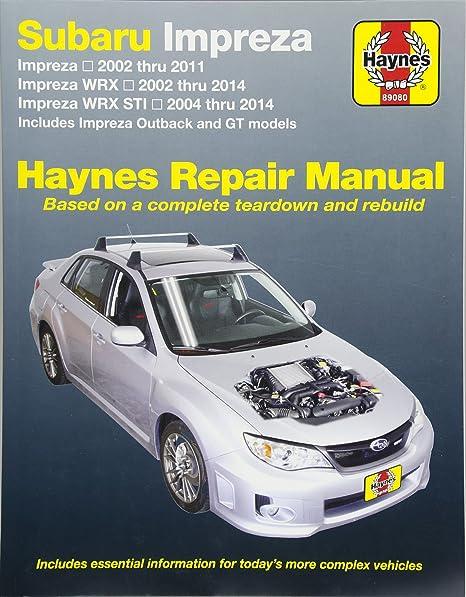 subaru impreza sti 2012 factory shop service repair manual