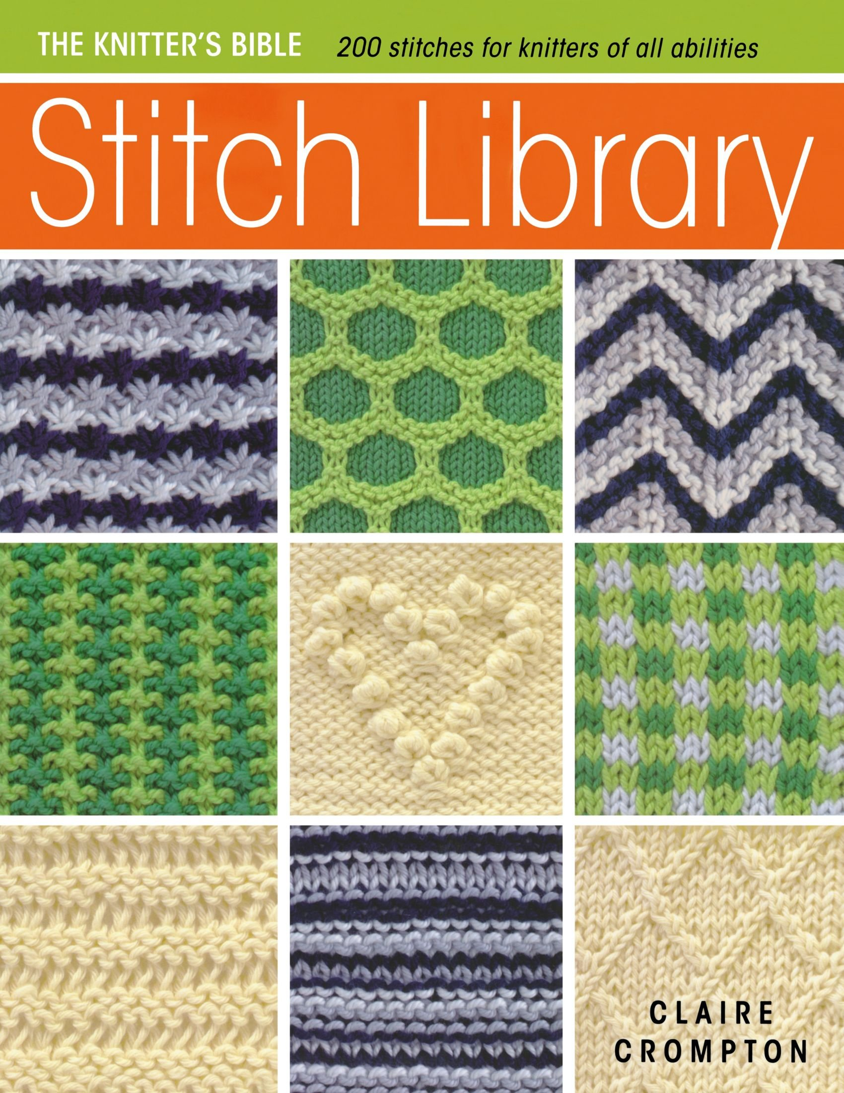The Knitters Bible Stitch Library Claire Crompton 0806488421852