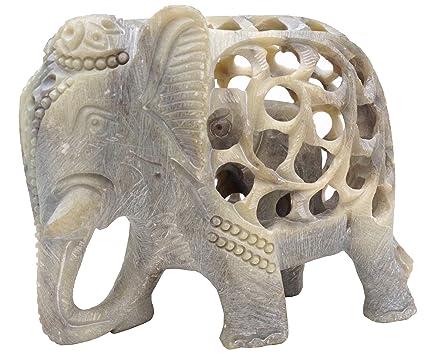 Handmade Soapstone Sculpture of Mother Elephant with Baby Inside - Impossible Elephant Decor Statue - Good  sc 1 st  Amazon UK & Handmade Soapstone Sculpture of Mother Elephant with Baby Inside ...