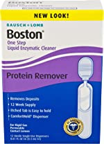 Bausch & Lomb Boston One Step Liquid Enzymatic Cleaner, Protein Remover,