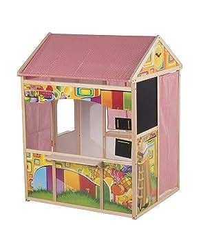 Marioneta de Madera 56388 Juguetes - Cobertizo Casa casa de Juegos para niños de Madera en Madera y Tela de la Tienda 90 X 84 X 119 CM: Amazon.es: Juguetes ...