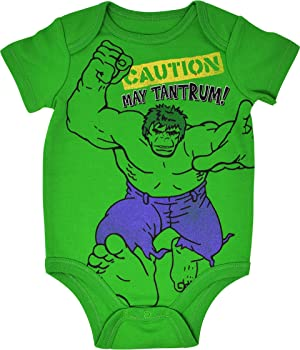 Amazon.com: Marvel Avengers Baby Boys 5 Pack Bodysuits Hulk ...