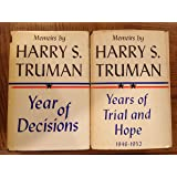 Memoirs By Harry S. Truman 2 Volume Set(years of Decisions