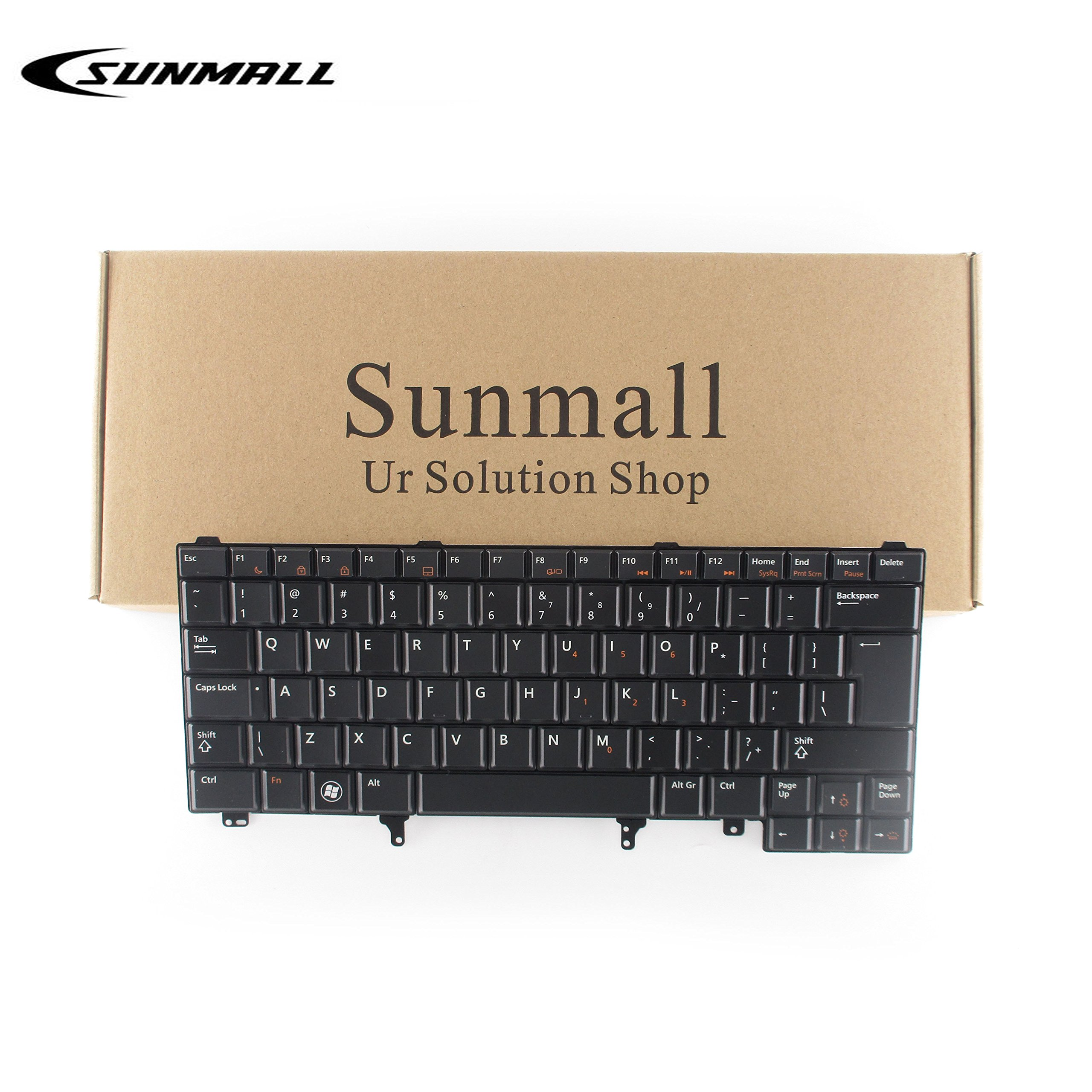 SUNMALL Replacement Keyboard with Backlit and Big Enter Key, Compatible with Dell Latitude E5420 E5430 E6220 E6320 E6330 E6420 E6430 E6440 Series US Layout (Without Pointer Stick)