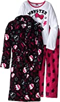 Monster High Big Girls' Starry Night Two-Piece Pajama Set with Robe