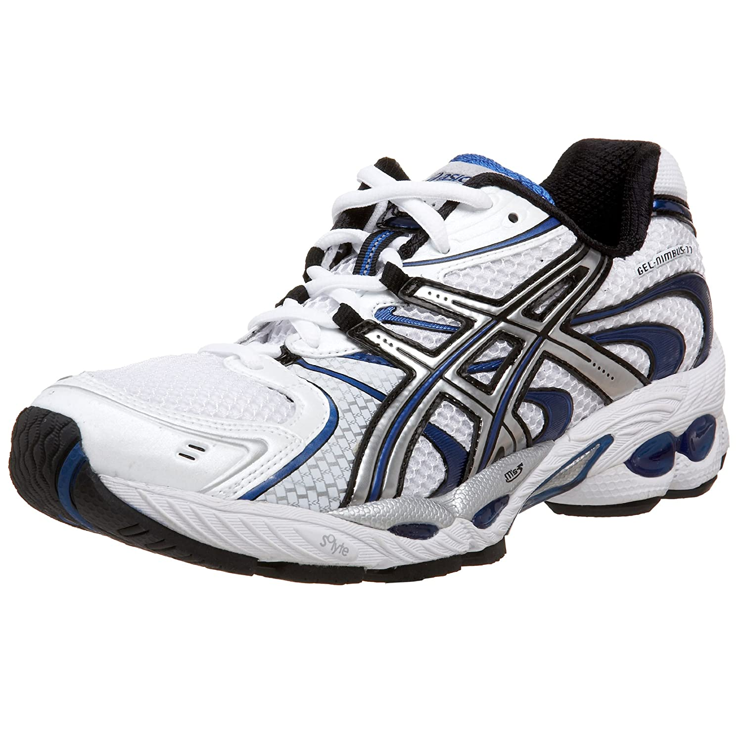 Amazon.com | ASICS Men's GEL-Nimbus 11 Running Shoe,  White/Lightning/Brilliant Blue, 16 D US | Running