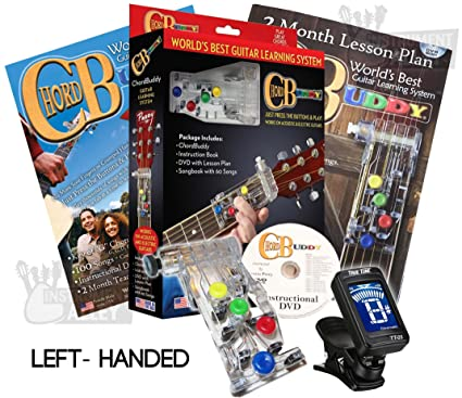 Amazon.com: LEFT HANDED Chord Buddy Guitar Learning System w/ True ...