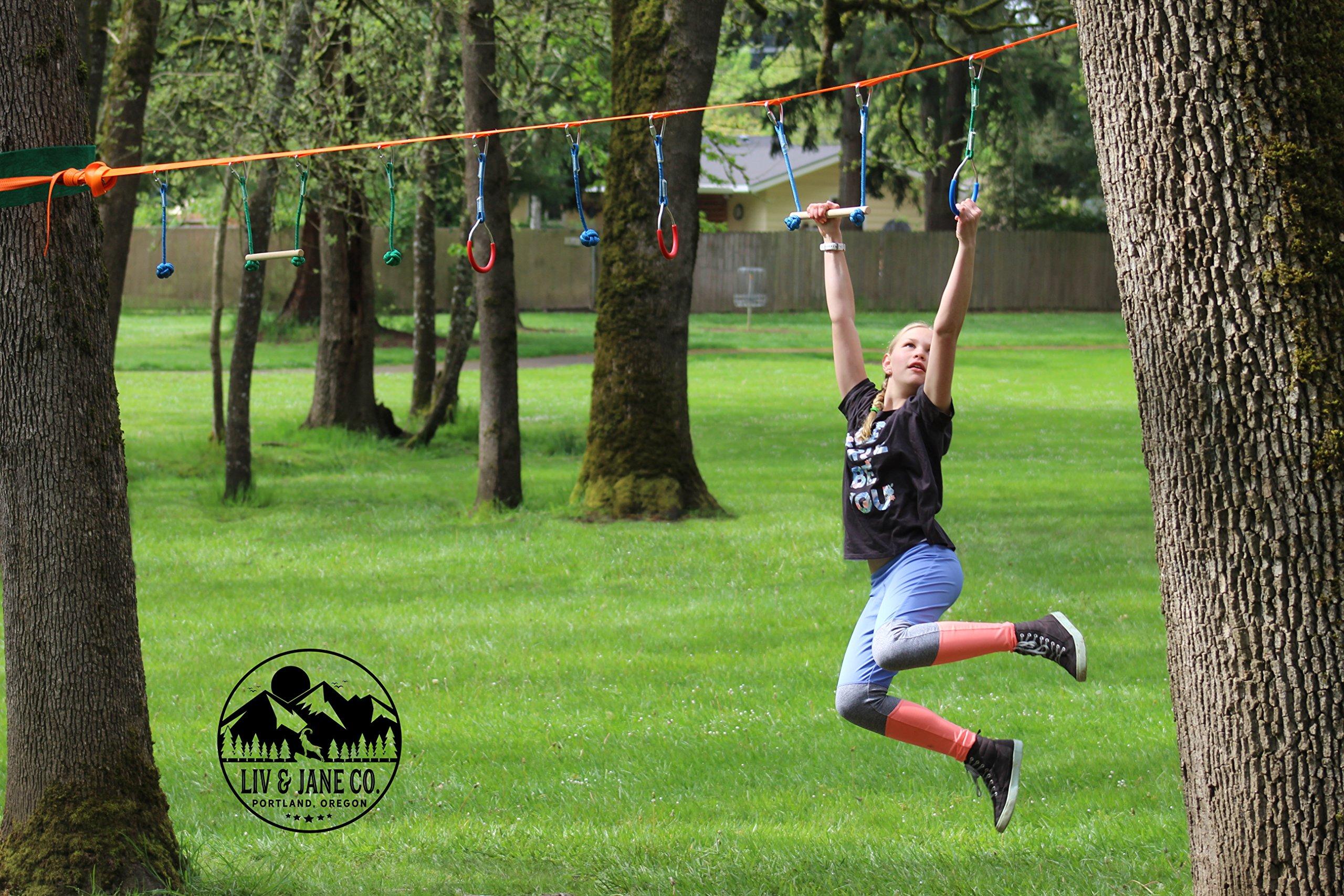 Liv Jane Co Ninja Line Obstacle Course 46 Set For Backyard