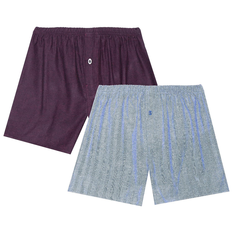 Noble Mount Men's Flannel Boxers - 2 Pack nmt_mn_fln_bxr_2p