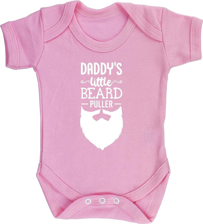 Short Sleeve Boys Girls Hippowarehouse Daddys Little Beard Puller Baby Vest Bodysuit