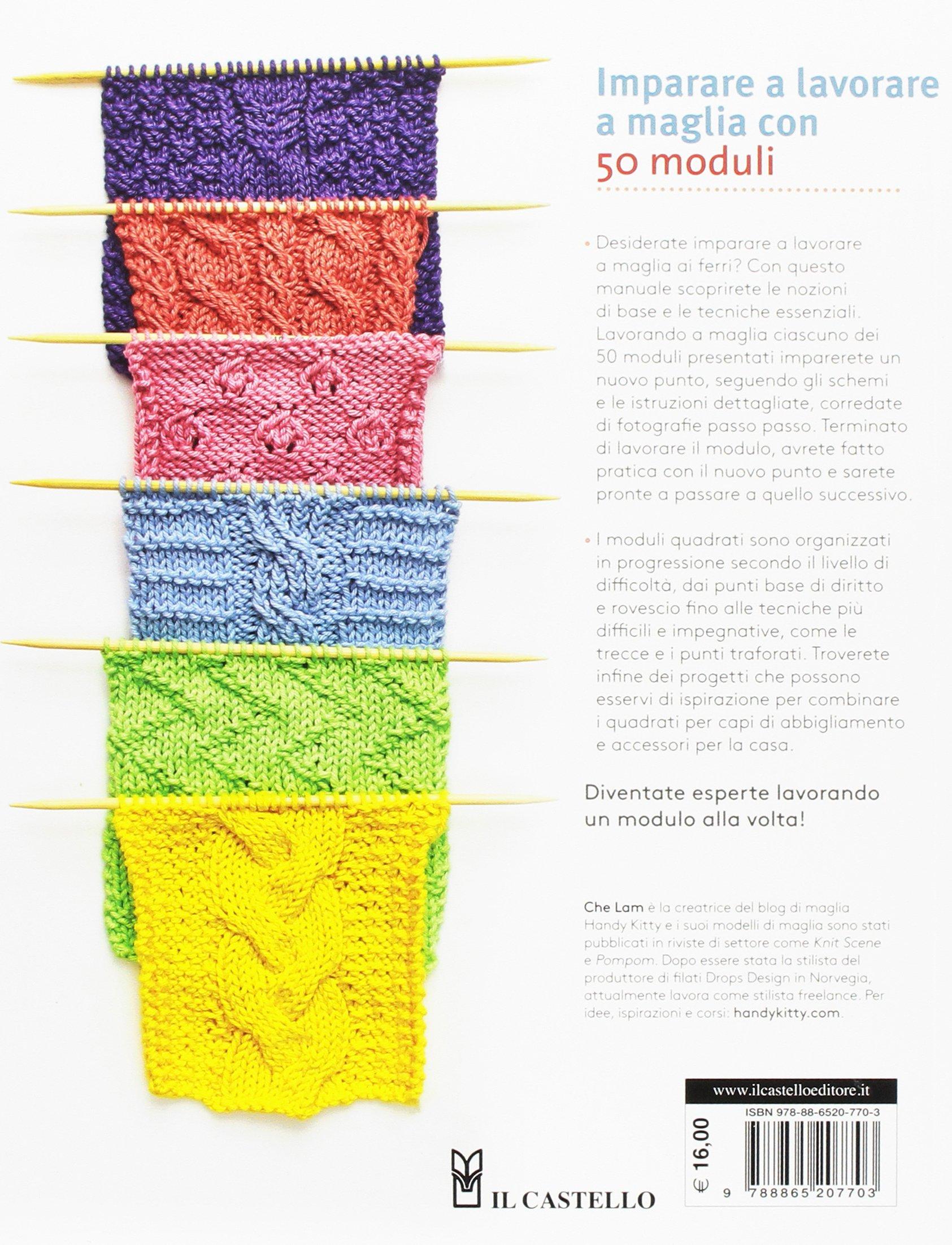 Amazon.it  Imparare a lavorare a maglia con 50 moduli. Ediz. illustrata -  Che Lam 19777a1d2eab
