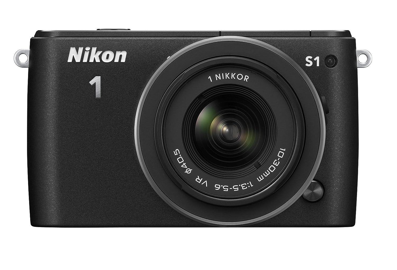 Nikon ミラーレス一眼 Nikon 1 S1 標準ズームレンズキット1 NIKKOR VR 10-30mm f/3.5-5.6付属 ブラック N1S1HLKBK  ブラック B00AY7F2G6