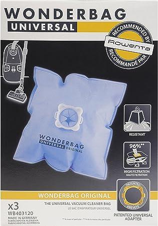 Wonderbag WB403120 - Juego de bolsas para aspirador (6 L, 3 ...