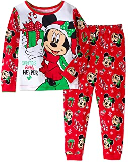 disney minnie mouse little girls toddler christmas pajama set