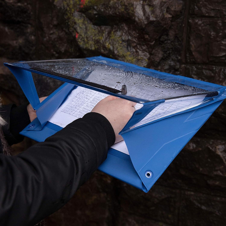 PVC pi/ù spesso dimensione A3 ritratto blu portablocco impermeabile rivestimento con agente anti-freddo Paperdry 18 mesi di garanzia