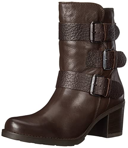 Amazon Com Clarks Women S Fernwood Lake Motorcycle Boot Mid Calf