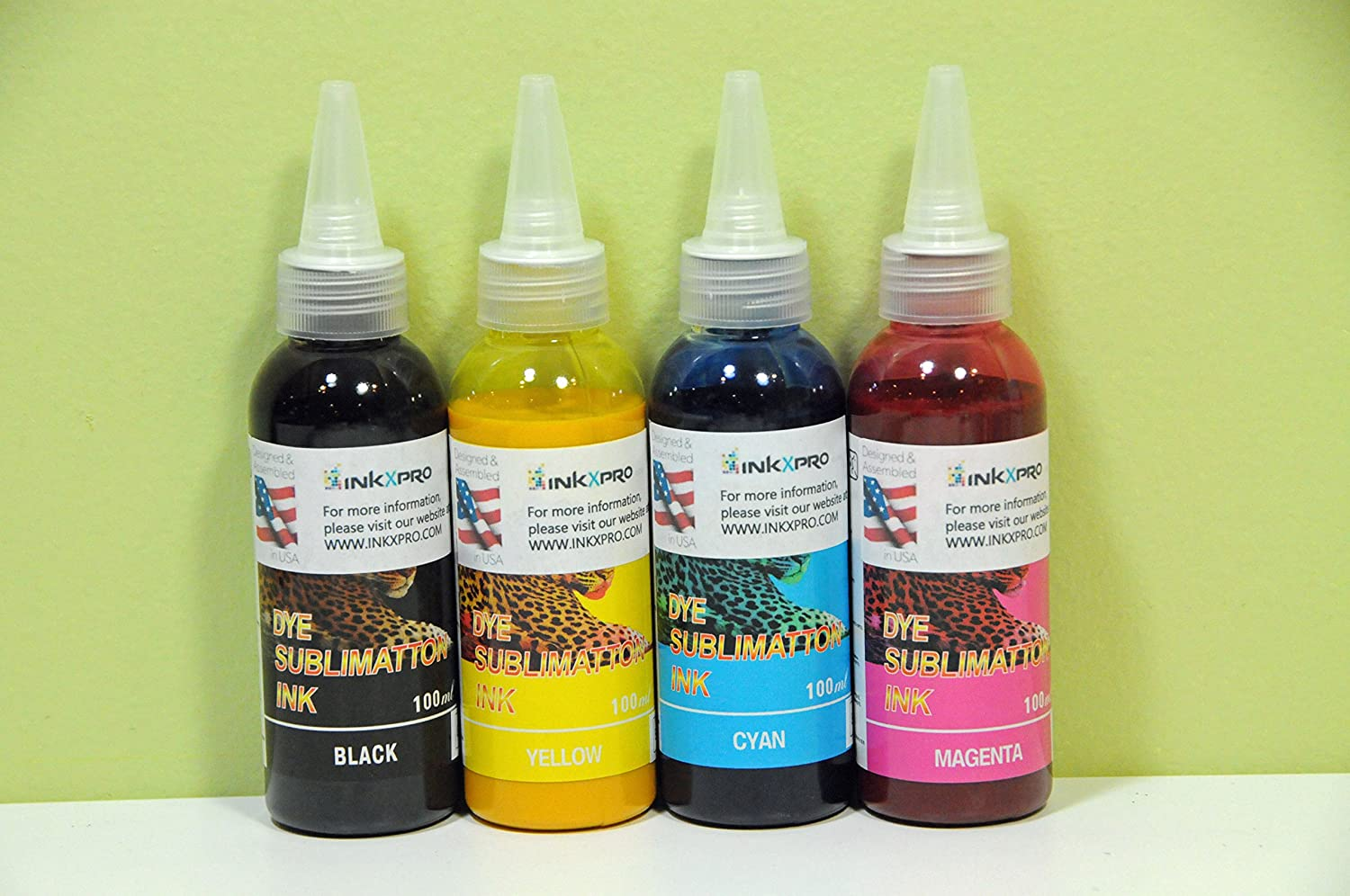 INKXPRO 4 X 100ml Professional True Color Sublimation Ink Refills for C68 C88 C88+ Workforce 3620 3640 7010 7510 7520 7110 7610 7620 7710 7720 7210 (for Sublimation Printing, ICC Profile Available)