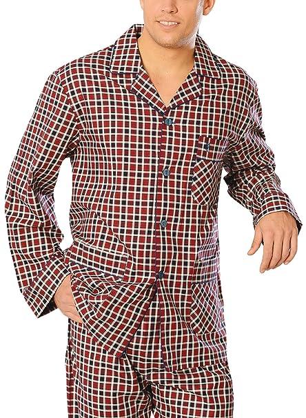 El Búho Nocturno Especial Tallas Grandes, Pijama de Caballero Largo clásico a Cuadros/Ropa