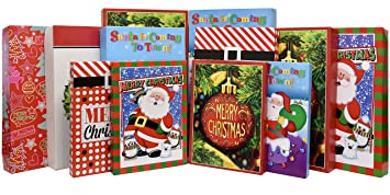12 christmas wrapping boxes set decorative holiday paper box for shirt robe lingerie clothing 6