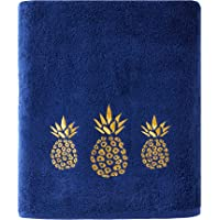 SKL Home by Saturday Knight Ltd. Gilded Pineapple Bath Towel, Navy