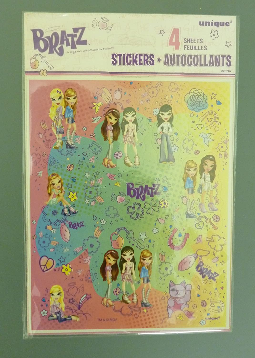 Toyland 4 Full Sheets of Bratz Stickers - Girls Stocking Fillers and Gifts (mi84)