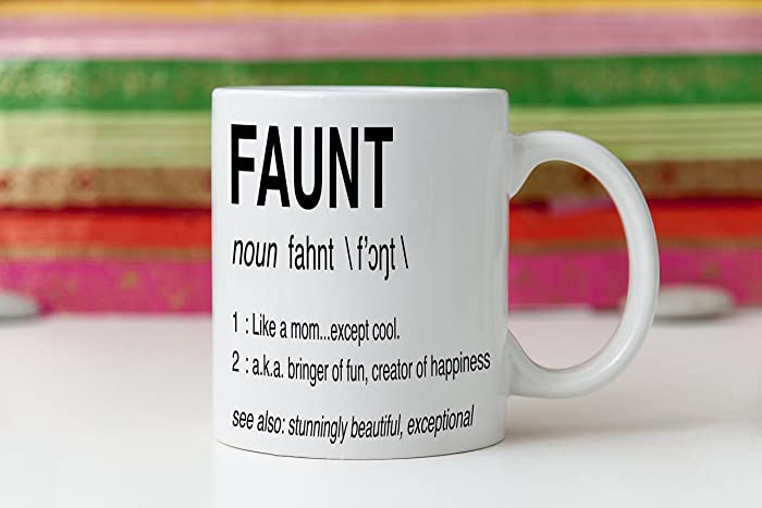 Funny Aunt Gift Cool Aunty Mug For Birthday