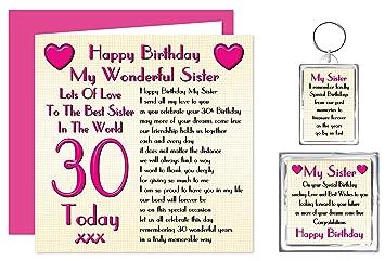 Sister 30th Happy Birthday Gift Set