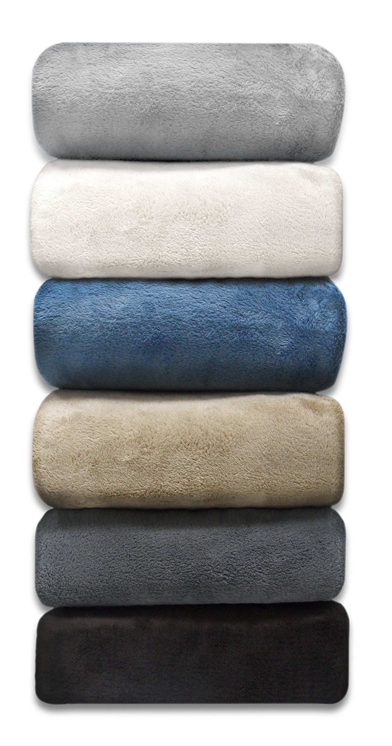 Linen Avenue Luxury Twin Stone Micro Plush Blanket JUST REDUCED 50% OFF