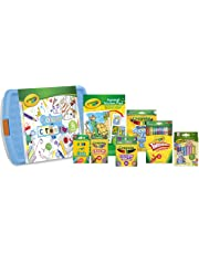 Crayola Colour and Create Tub - Assortment of Crayons, Coloured Pencils, Washable Marker Pens, Coloured Chalk, Colouring Book