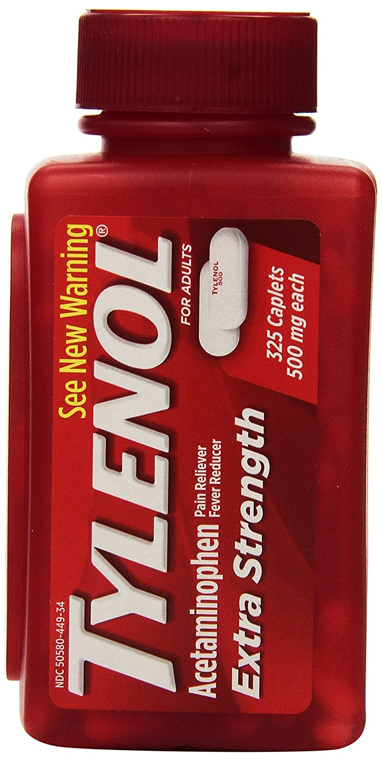 Amazon Com Tylenol Extra Strength Acetaminophen 500 Mg 325 Caplets