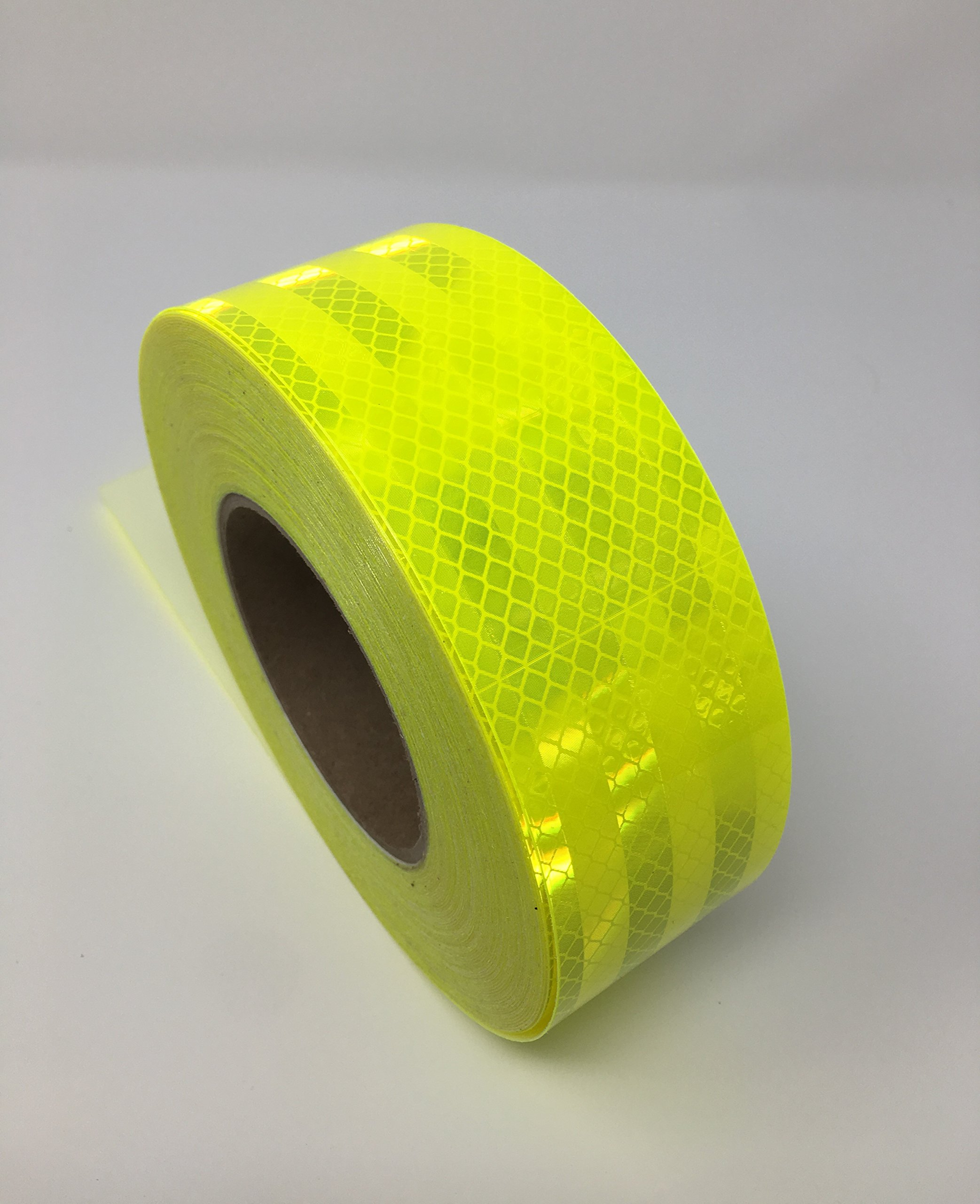 Safe Way Traction 2'' x 150' Roll 3M Fluorescent Yellow Green Reflective Safety Tape 983-23