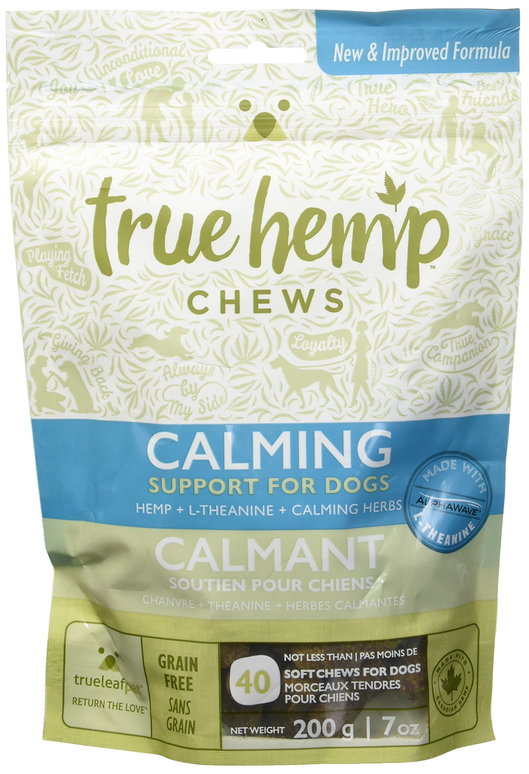 True Leaf Pet 40 Count Hemp Chews Calming Support for Dogs, 7 oz
