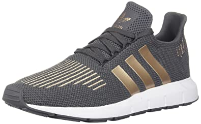 410376583 adidas Originals Boys  Swift J Running Shoe Grey Five Copper Metallic White  7