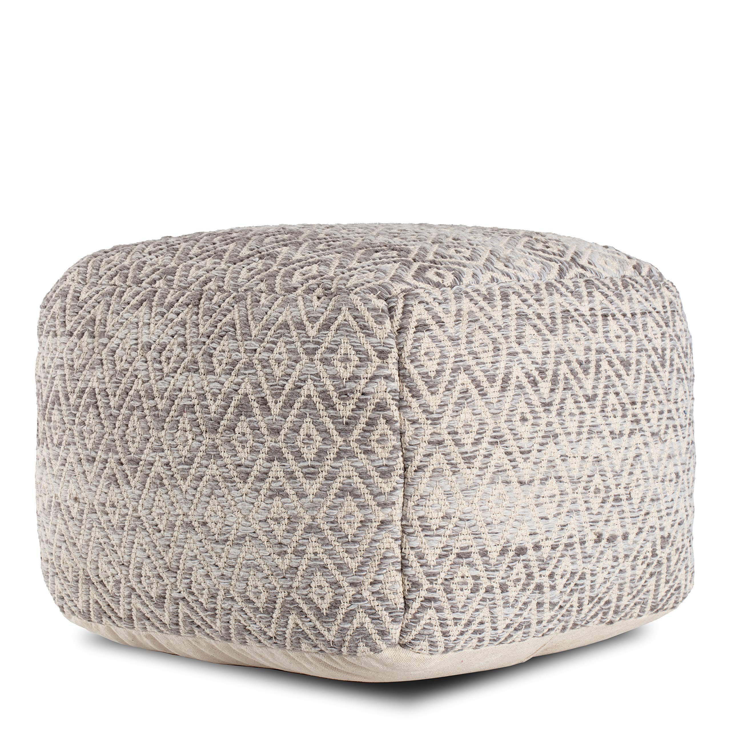 Anji Mountain Square Pouf , 22'' x 22'' x 17'', Gray by Anji Mountain