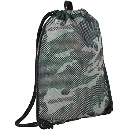 a31c880608 Eastsport High-Capacity Mesh Drawstring with Cinch-able Closure, Army Camo