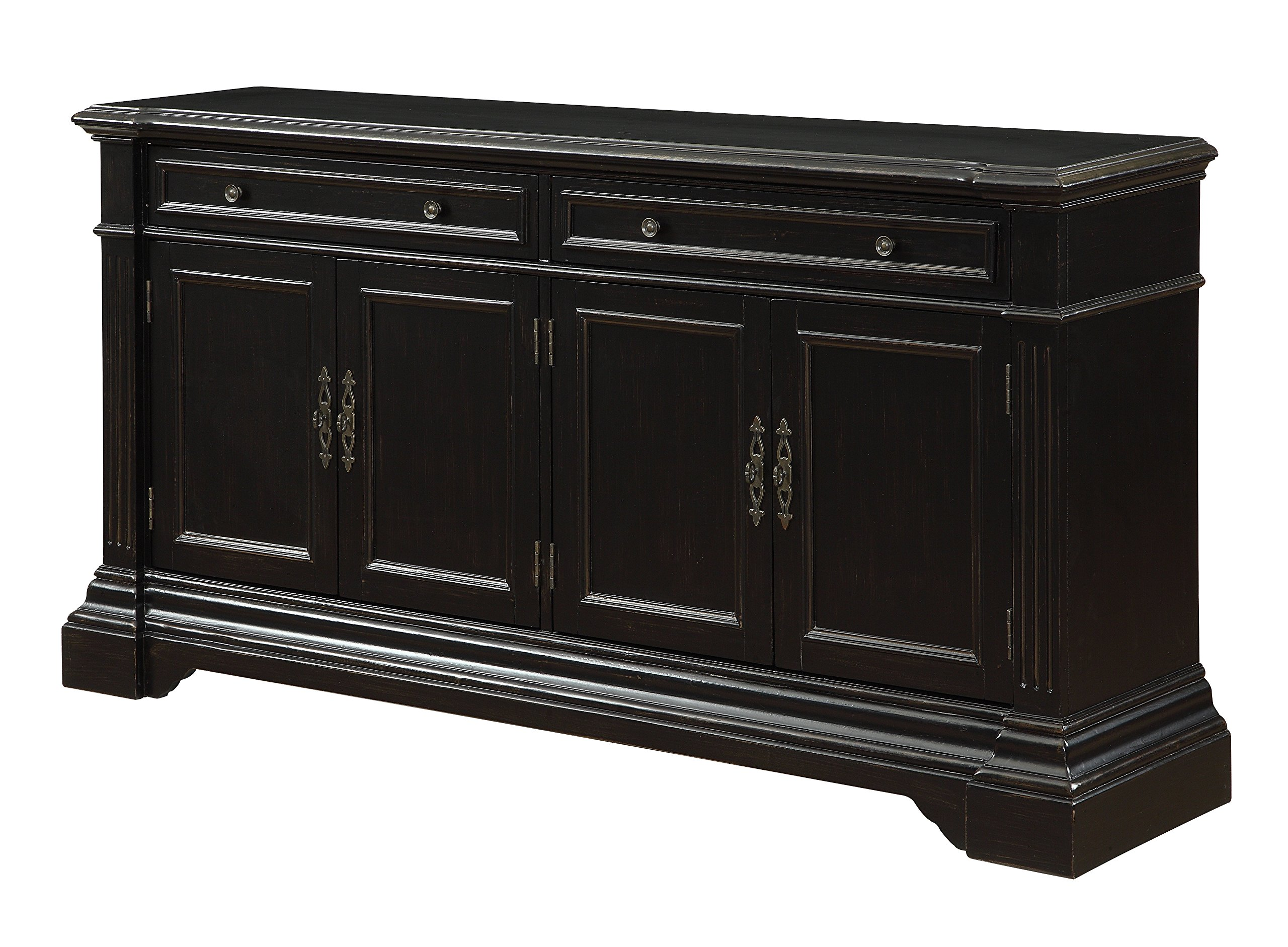 Treasure Trove Accents Two Drawer Four Door Media Credenza, 68.5'' x 16'' x 35'' by Treasure Trove Accents
