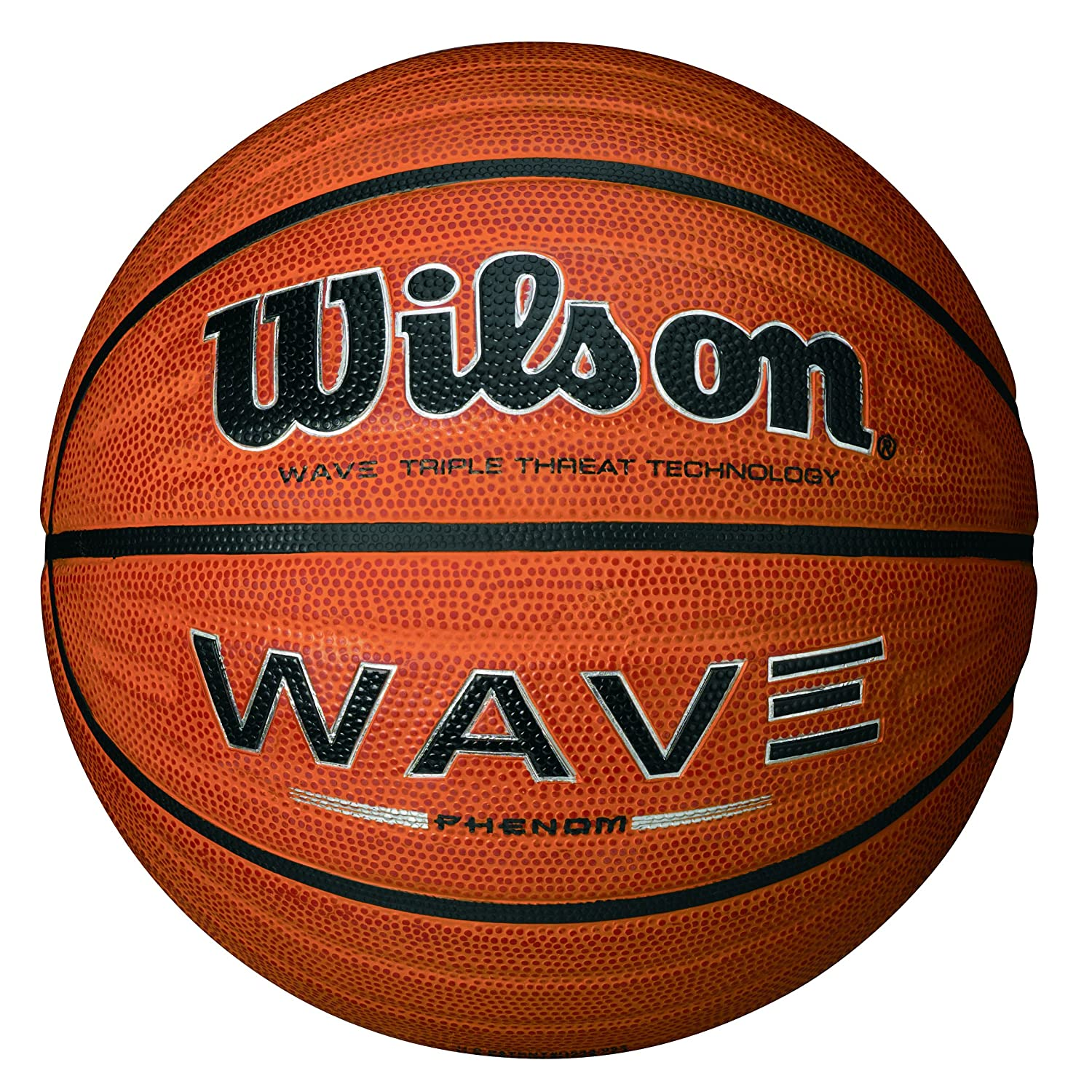 WILSON Wave Phenom Ballon de Basketball Surface Rugueuse Asphalte Granuleuse Sol synthétique