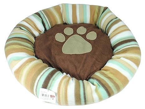 Cama para perros o gato cama redonda (aprox. 60 cm Manta cama para cachorros