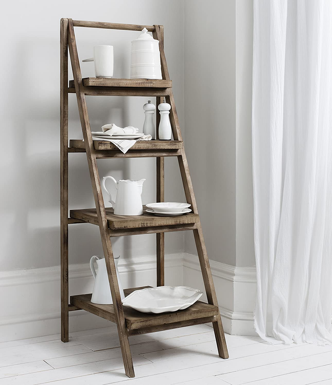 reputable site 2bbaa e5a4d Cartwright free standing rustic wood ladder shelf Storage ...