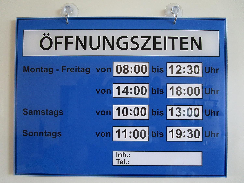 Horarios carteles (Negocios tiempos) plexiglás XT Color Oro ...