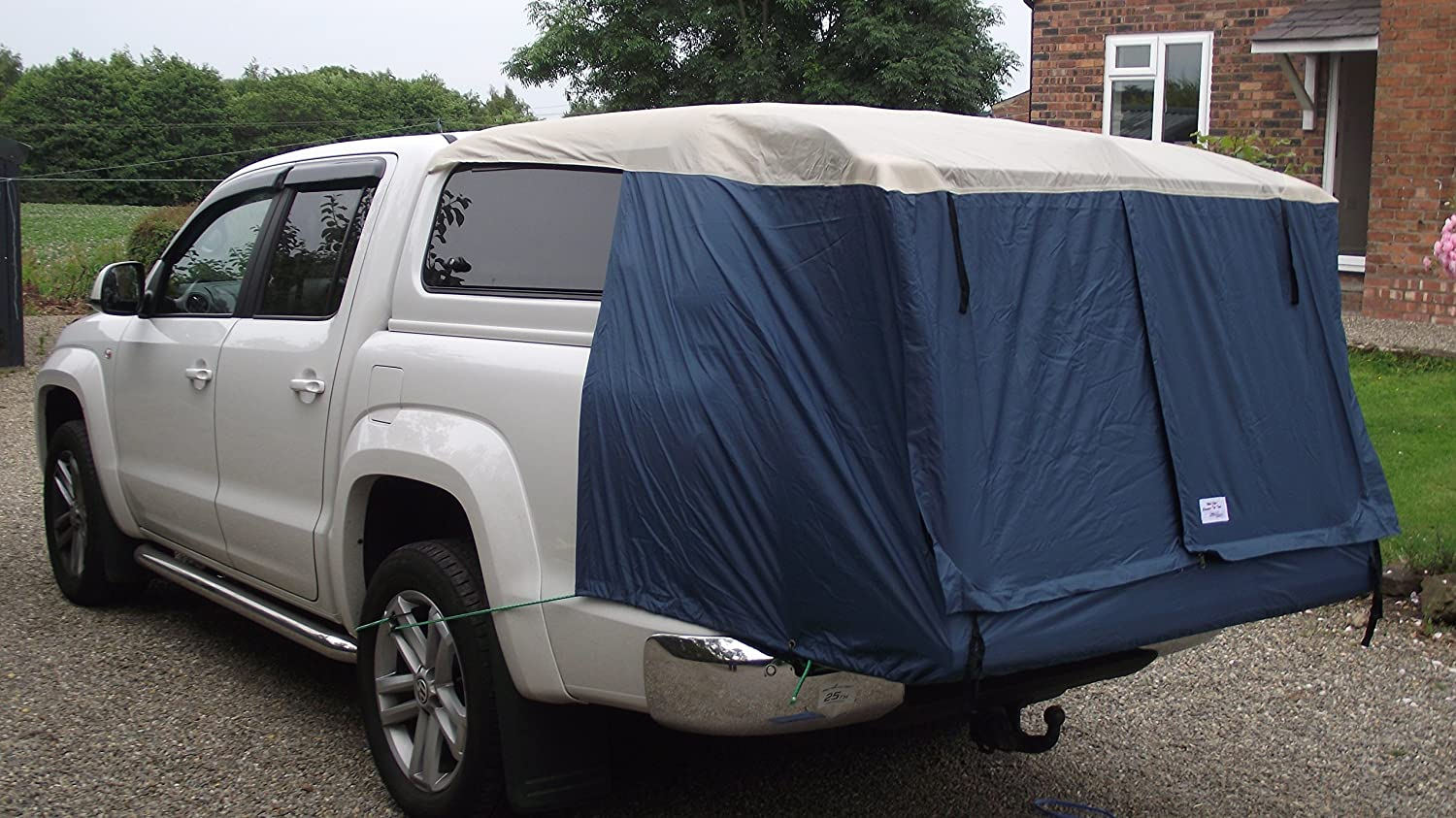 51.18✕62.99✕39.37inch Waterproof Universal Self-driving Car Tabernacle HJUI Truck Tent Durable And Strong Large Space Pickup Truck Tailgate Tent Tailgate Shade Awning Tent